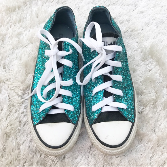 d091a8e526ff7a Converse Shoes - CONVERSE Turquoise Glitter